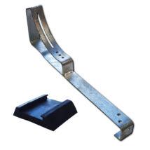 Univerzális lépcsőtartó galvanizált EPDM gumival 485 mm hosszú