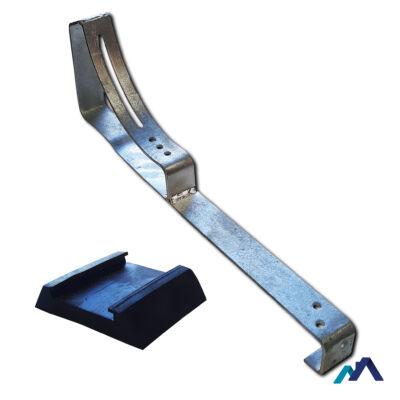 Univerzális lépcsőtartó galvanizált EPDM gumival